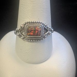 Jewelry - Sterling Silver fire opal ring